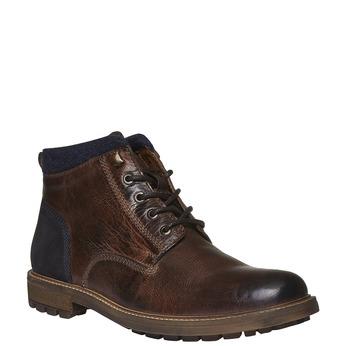 Kožené kotníkové boty bata, hnědá, 894-4133 - 13