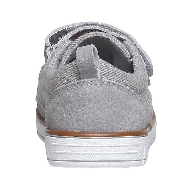 Dětské kožené tenisky mini-b, šedá, 313-2204 - 17