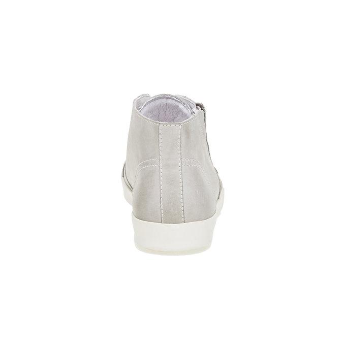 Kožené kotníčkové tenisky bata, bílá, 524-1310 - 17