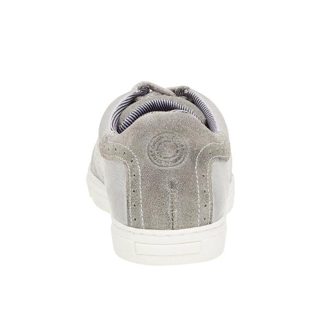 Dětské kožené tenisky bull-boxer, šedá, 416-9007 - 17