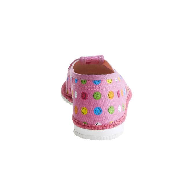 Dětská domácí obuv bata, růžová, 179-5105 - 17