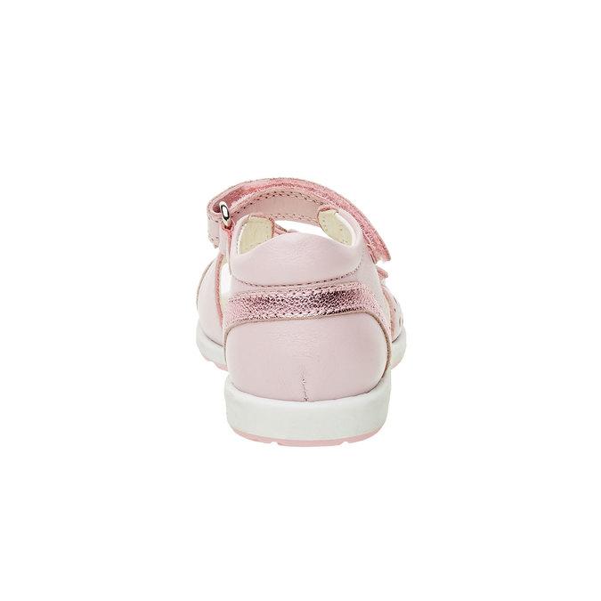 Dětské kožené sandály geox, růžová, 166-5100 - 17