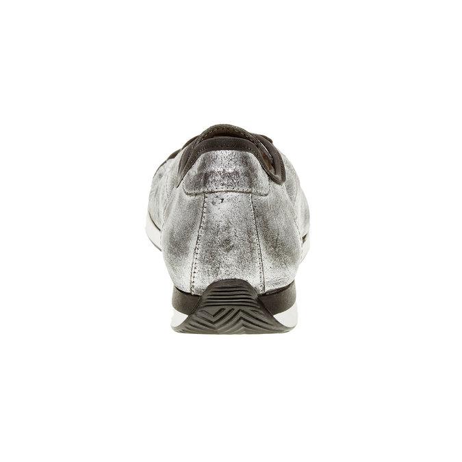 Stříbrné kožené tenisky bata, stříbrná, 526-1131 - 17