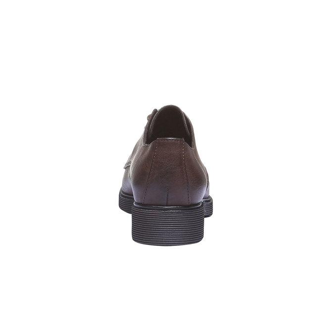 Dámské boty v derby stylu bata, hnědá, 521-4101 - 17