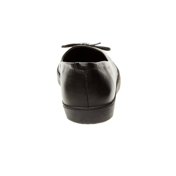 Kožené baleríny s výraznou podešví bata, černá, 524-6464 - 17