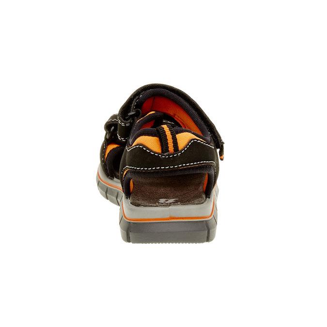 Dětské sandály mini-b, černá, 361-6120 - 17