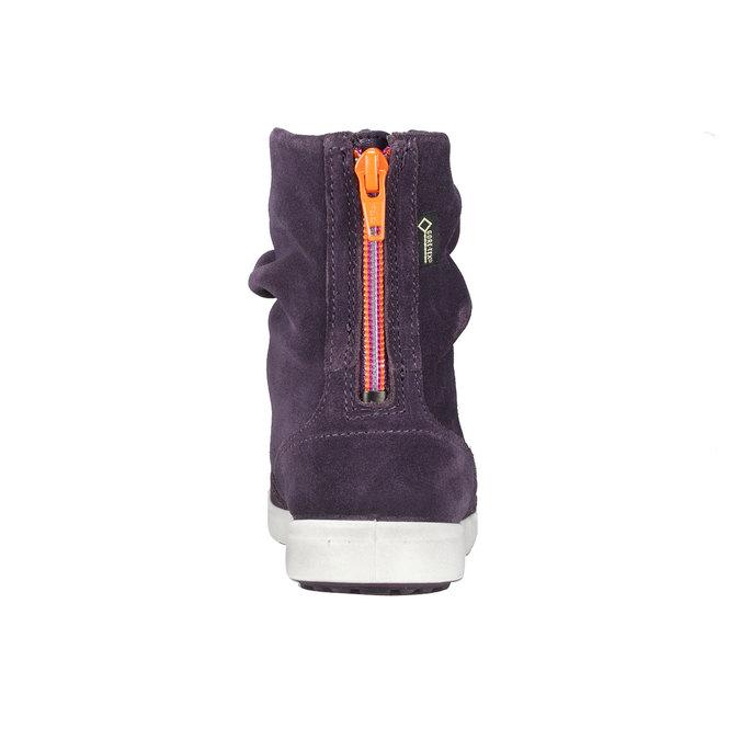 Dívčí kožené kozačky ecco, fialová, 393-9002 - 17