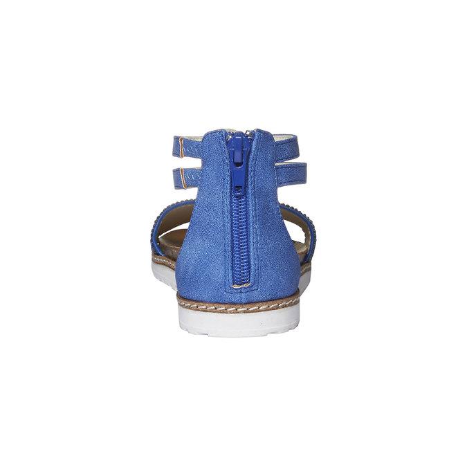 Dívčí sandály s kamínky mini-b, modrá, 361-9161 - 17