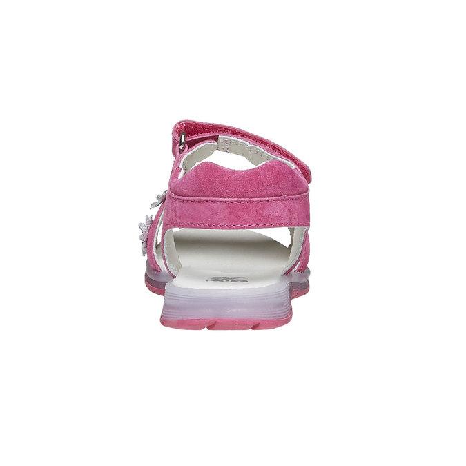 Kožené sandály s kytičkami mini-b, růžová, 263-5163 - 17