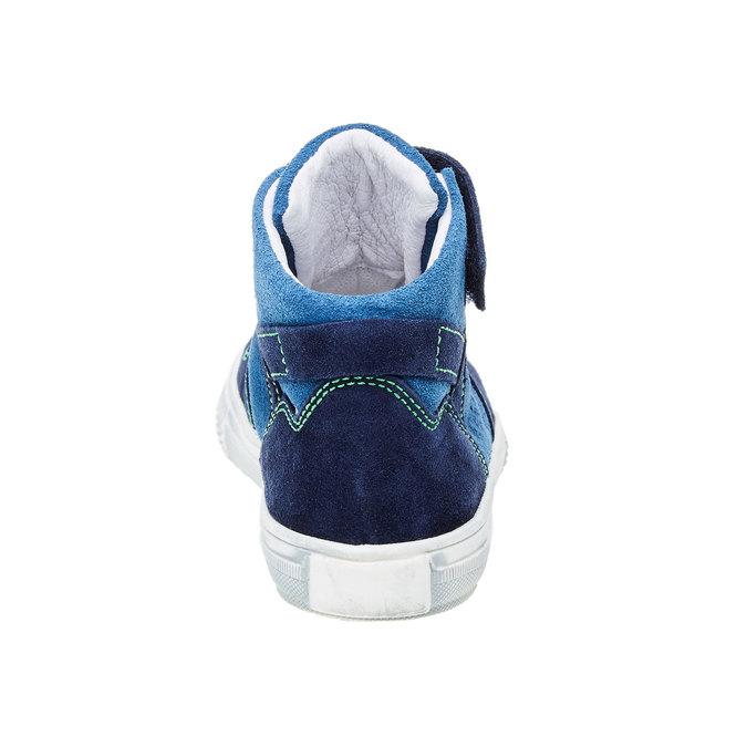 Chlapecká kožená obuv richter, modrá, 413-9002 - 17