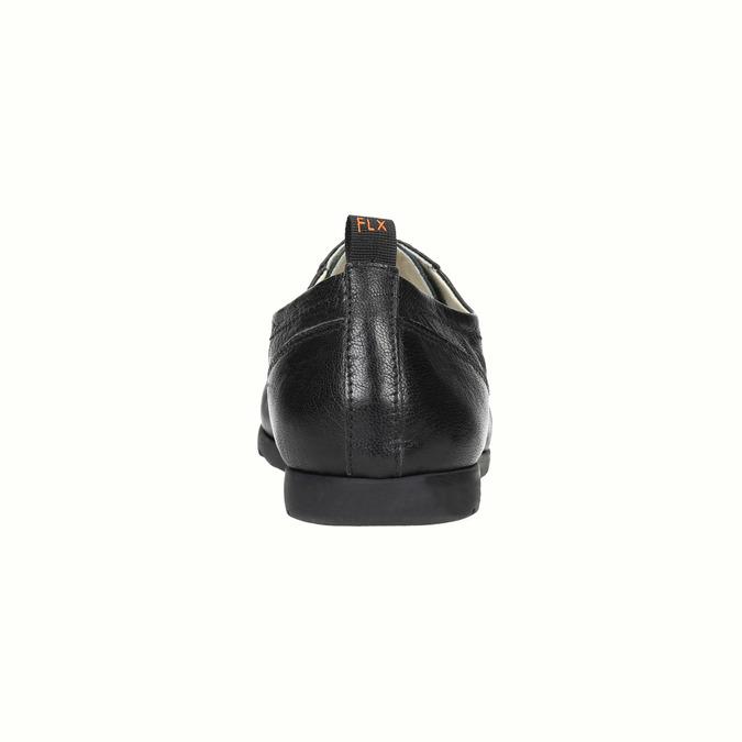 Dámské kožené polobotky flexible, černá, 524-6565 - 17