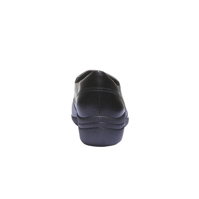 Nazouváky s prošitím bata, černá, 511-6101 - 17