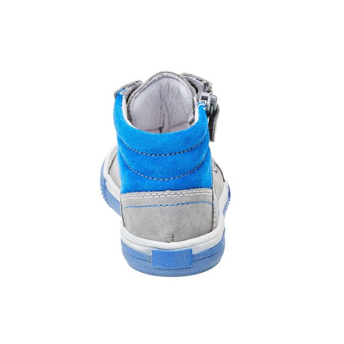 Chlapecká kožená obuv richter, šedá, 413-2003 - 17