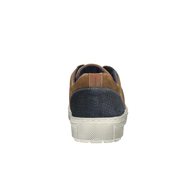 Pánské kožené tenisky bata, hnědá, 826-3651 - 17
