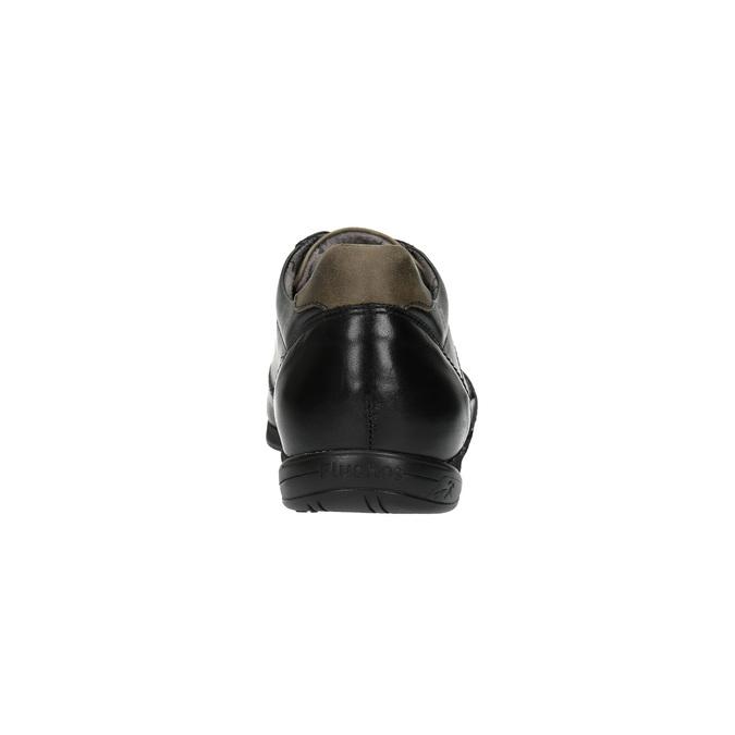 Ležérní kožené polobotky fluchos, černá, 824-6624 - 17