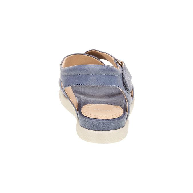 Dámské kožené sandály bata, modrá, 564-9351 - 17