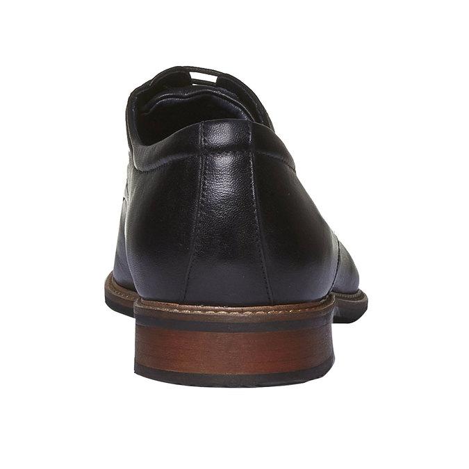 Kožené polobotky v Derby stylu bata, černá, 824-6707 - 17