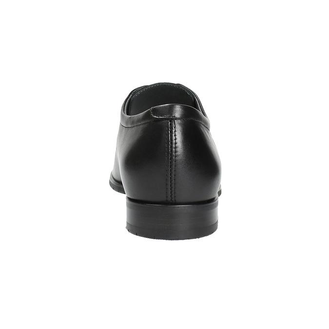 Kožené polobotky v Derby střihu bata, černá, 824-6676 - 17
