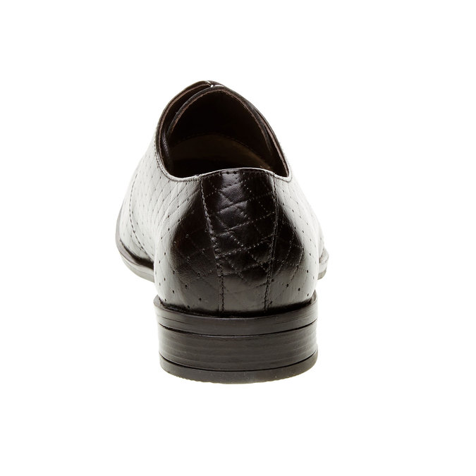 Kožené polobotky s perforací bata, černá, 824-6288 - 17