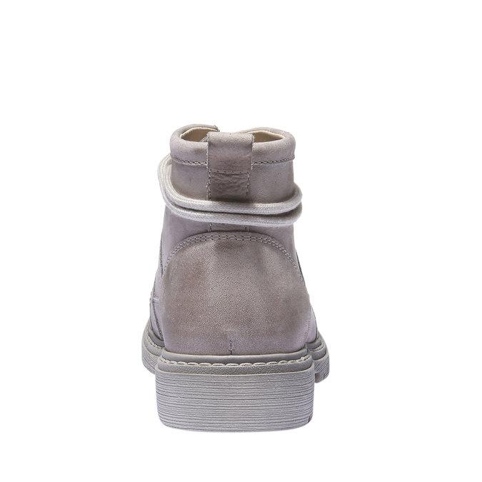 Kožená obuv s originálními tkaničkami weinbrenner, žlutá, 596-8409 - 17