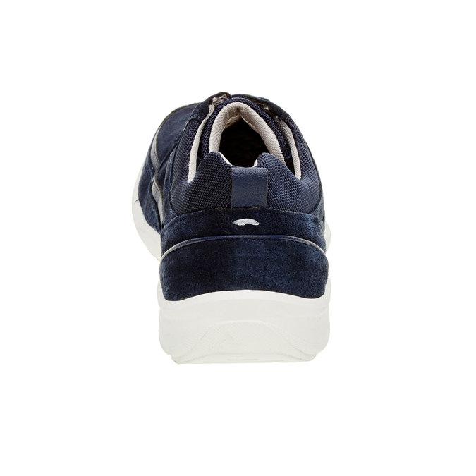 Ležérní kožené tenisky comfit, modrá, 843-9643 - 17