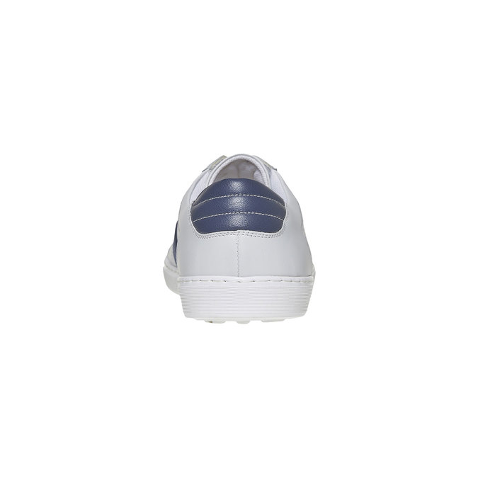 Bílé kožené tenisky bata, bílá, 844-1639 - 17
