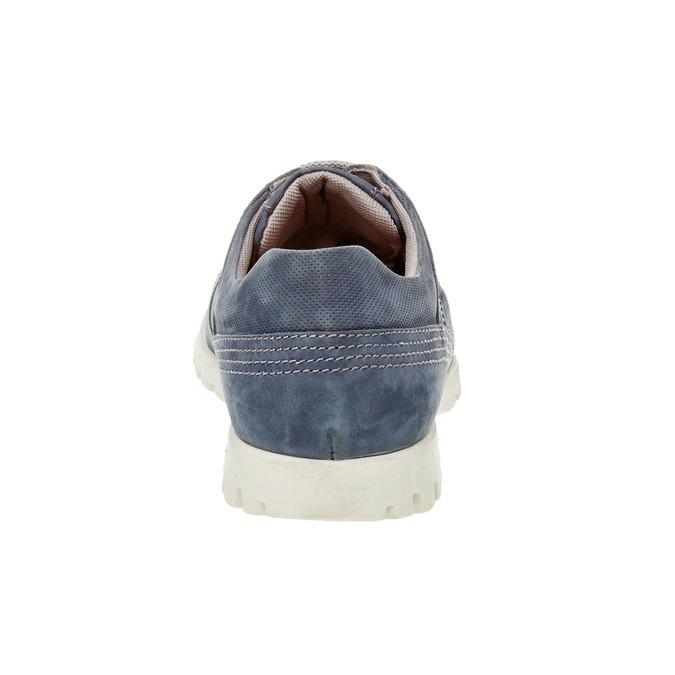 Ležérní kožené tenisky flexible, modrá, 846-9650 - 17