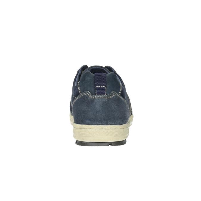 Pánské kožené tenisky bata, modrá, 826-9649 - 17