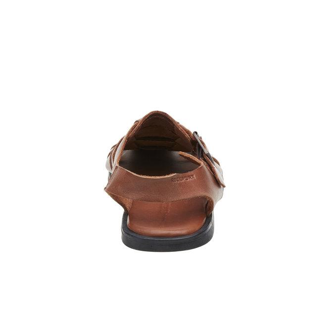 Pánské kožené sandály rockport, hnědá, 864-3104 - 17