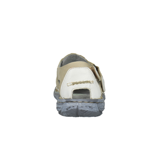 Pánské kožené sandály bata, bílá, 856-1300 - 17