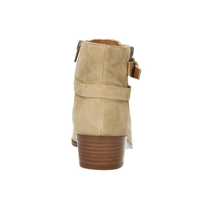 Dámská kotníčková obuv z broušené kůže bata, béžová, 693-1600 - 17