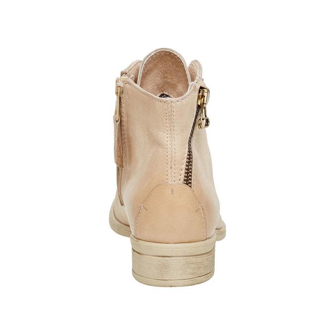 Kožené kotníčkové boty se zipem bata, bílá, 596-1103 - 17