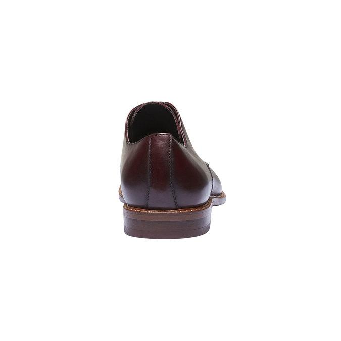 Kožené polobotky v Derby střihu bata, červená, 824-5551 - 17