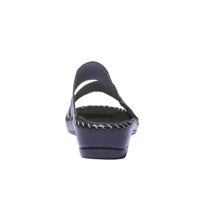 Kožené nazouváky comfit, černá, 574-6174 - 17
