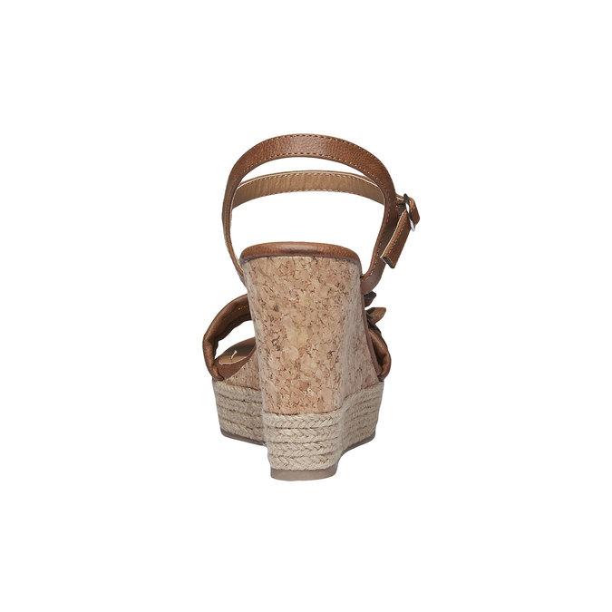 Sandály na platformě s kytičkou bata, hnědá, 761-4529 - 17