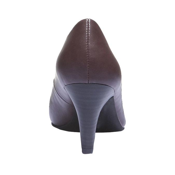 Lodičky na středně vysokém podpatku bata, fialová, 721-5222 - 17