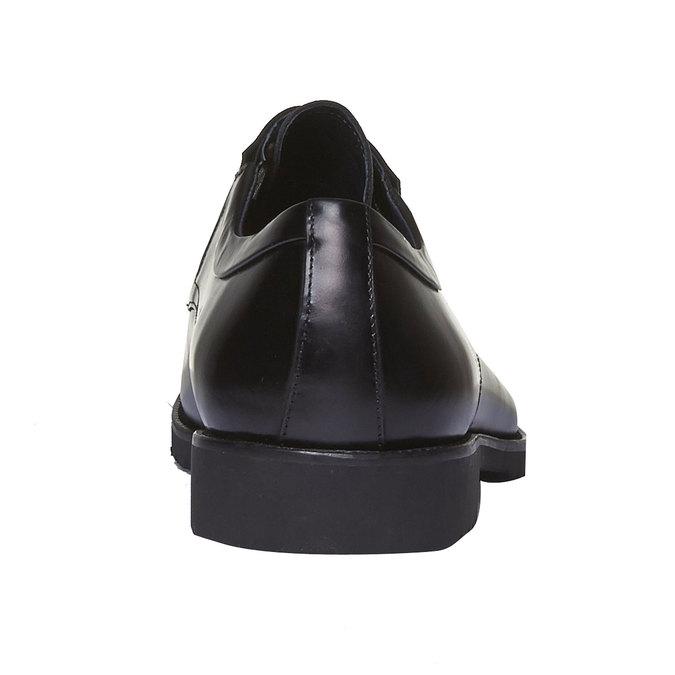 Kožené polobotky v Derby stylu bata, černá, 824-6398 - 17