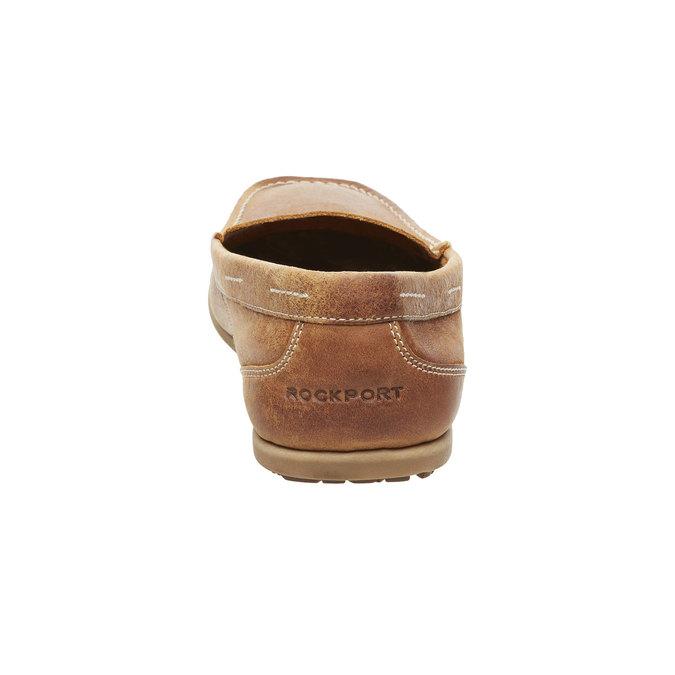 Pánské kožené mokasíny rockport, hnědá, 816-3101 - 17