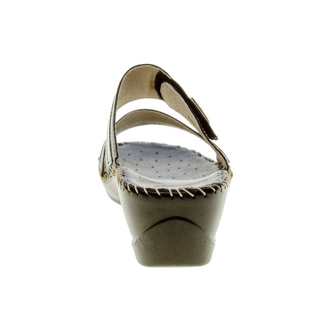 Dámské pantofle na klínovém podpatku comfit, modrá, 674-9249 - 17