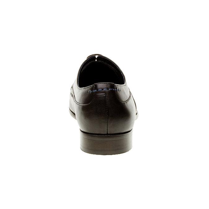 Pánské kožené polobotky bata, černá, 824-6663 - 17
