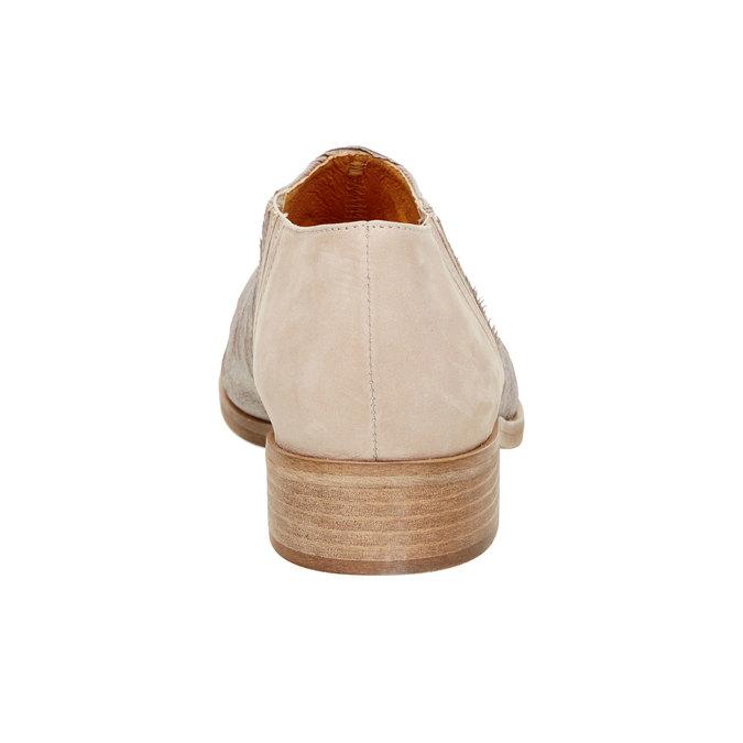 Kožené polobotky s pružením bata, šedá, 596-2111 - 17