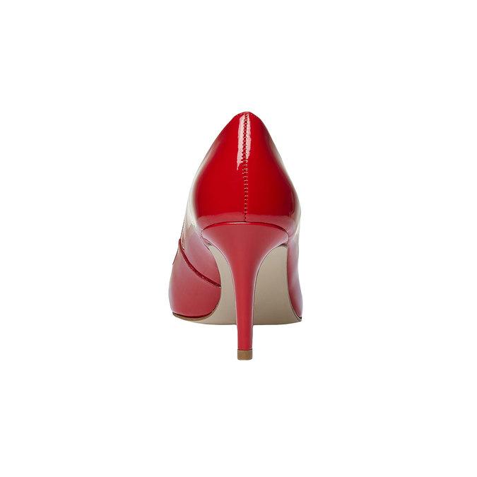 Červené kožené lodičky bata, červená, 728-5955 - 17