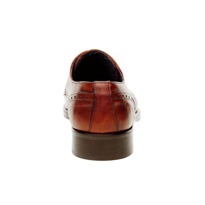 Pánské kožené polobotky se zdobením bata, hnědá, 824-4809 - 17