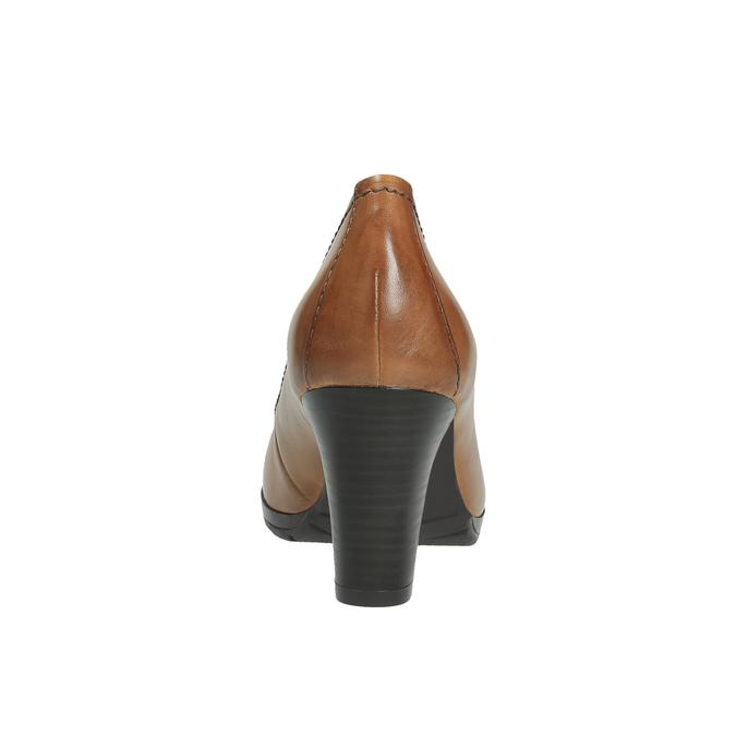 Dámské lodičky na širokém podpatku bata, hnědá, 726-3604 - 17