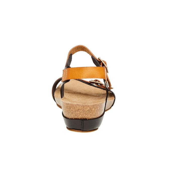Kožené sandály na klínovém podpatku weinbrenner, černá, 564-6520 - 17
