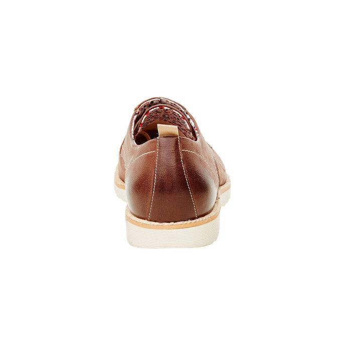 Kožené polobotky s výraznou podešví bata, hnědá, 824-4694 - 17