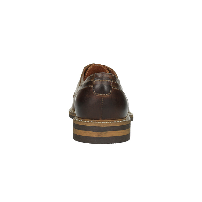 Neformální kožené polobotky bata, hnědá, 824-4654 - 17