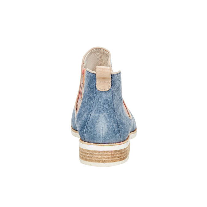 Kožené Chelsea boots gabor, modrá, 593-9012 - 17