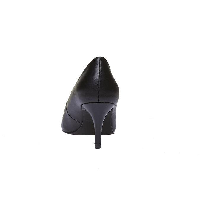 Lodičky s kulatou špičkou bata, černá, 621-6387 - 17