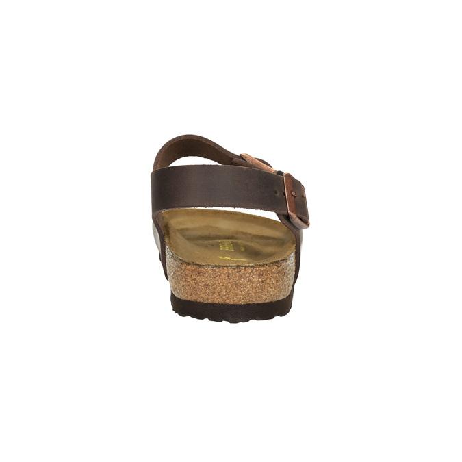 Pánské kožené sandály na korkové podešvi birkenstock, hnědá, 866-4005 - 17
